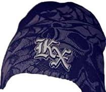 Kawasaki KX Trap Embroidered Beanie Black and Grey w/Skulls