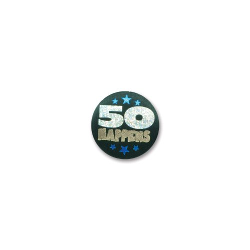 "50 Happens Satin Button 2"" Party Accessory - 1"