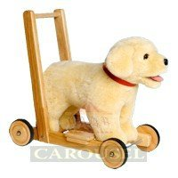 Mulholland and Bailie Push Along Sit and Ride Labrador Baby Walker Medium