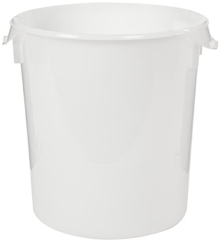 Rubbermaid Commercial Fg572700Wht Round Storage Container, 18-Quart Capacity front-585340