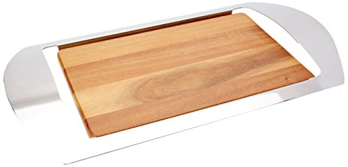 Nambe Mikko Bar Tray, 19-Inch by 10-1/2-Inch by 1-3/4-Inch (Nambe Cheese Tray compare prices)