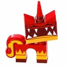The LEGO Movie Loose Super Angry Unikitty Minifigure - 1