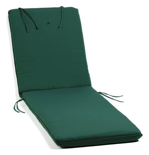 Oxford Garden Chaise Lounge Cushion, Green