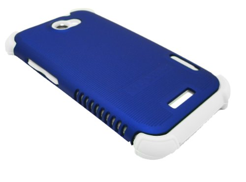 Cell-Nerds Nerdshield Grip Case Cover For The Htc One X (At&T Model Pj83100) (Blue On White)