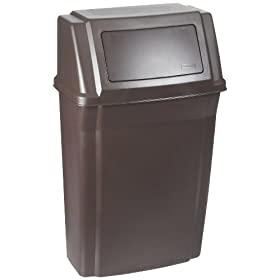 Rubbermaid Commercial Slim Jim Wall Mounted Trash Can, Rectangular