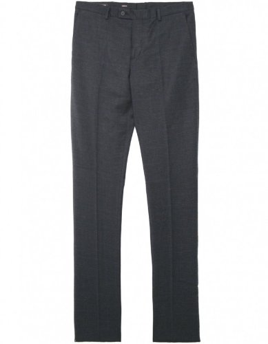 Michael Kors Men's Pants Charcoal Woven Check Trousers 38R