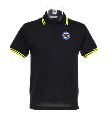 THE JAM logo Polo Shirt - Black with
