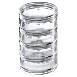 Beadsmith 4 Clear Stackable Jars
