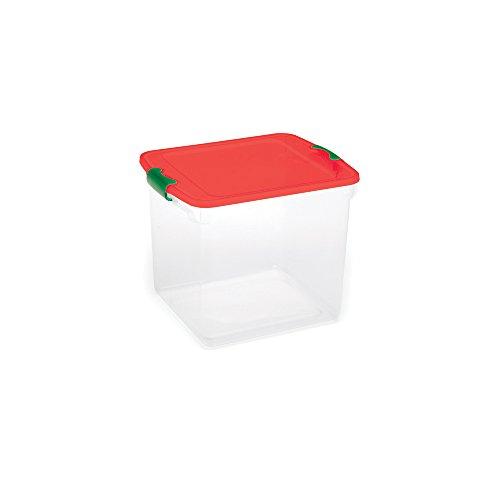 Homz holiday ornament storage tote box with dividers - Plastics blanes ...
