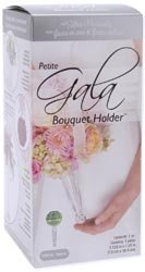 "Bulk Buy: Floracraft Gala Petite Bouquet Holder 3.125"" X 7.25"" 1/Pkg Crystal Acrylic Handle W/Dry Floral Foam (3-Pack)"