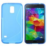 Soft Jelly Case Shell Cover Skin Cases Compatible With Samsung Galaxy S5 - Lifetime Warranty (Blue)