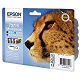Epson Original T0715 4 Cartridge Multipack (Cyan T0712, Magenta T0713, Yellow T0714 and Black T0711) pcs laptops