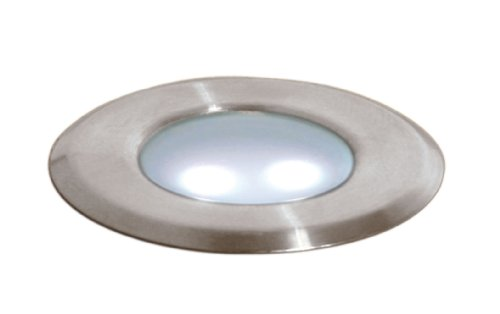 Paradise Gl28100Bs6 Low Voltage Metal Deck Light, Brushed Stainless Steel, 6-Pack