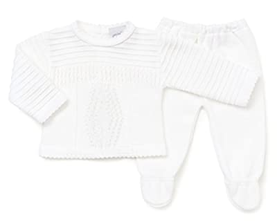 Baby Boys 2 pieces Knitted Leggings & Jumper Set For christening, Special occassions