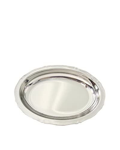 Cunill Silver-Plated Hammered Oval Centerpiece