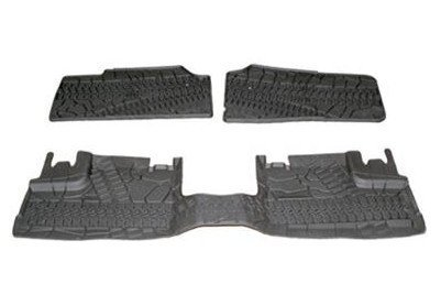 JEEP WRANGLER SLUSH MATS 3 PC SET 07-12 4 DOOR MOPAR