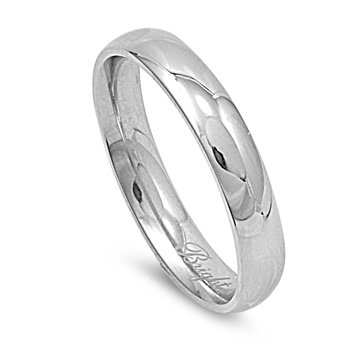 Stainless Steel Wedding Band - Comfort Fit - Size 12
