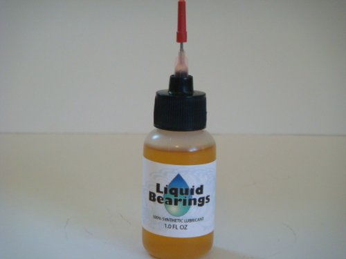 Liquid Bearings, 100%-synthetic oil for HO, 1/32, 1/24, all scale slot cars, makes cars faster!!