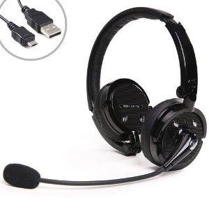 Metroeb Hi-Fi Stereo Handsfree Headset 2 In 1 Stereo Mic Noise Canceling Wireless Bluetooth Headphone For For Cellphones Iphone 4S Ipad Pc Ps3 Skype Samsung Galaxy S4 Ipad Mini