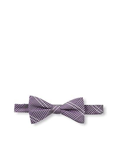 Ben Sherman Men's Windsor Plaid Bow Tie, Purple