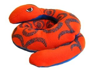 Hot PETS, Boa. Blue-Orange. Stuffed animal. Fair Trade, Natural. Handmade by micro-sensations