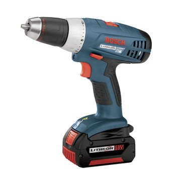 Factory-Reconditioned Bosch 36618-02-RT 18V Cordless Lithium-Ion VSR Compact Tough Drill Kit