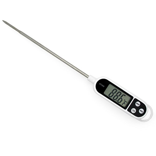 Jcc Digital Lcd Display Food Thermometer With Reading Holder For Cooking, Food Probe Milk Meat Thermometer front-591383