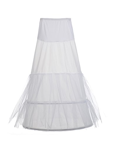 Remedios Sheer Tulle and Nylon 3 Tier Long Mermaid Wedding Petticoat