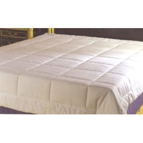 Exclusive A Veiled Design With White Sewn-Through Box-Quilted Style 300Tc Blanket, Twin front-590527