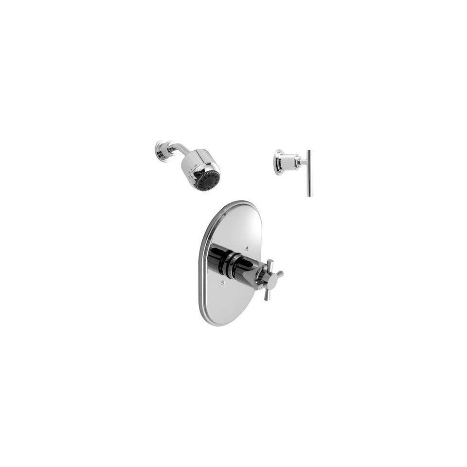 New Haven Thermostatic Complete Shower System 01 Finish Polished Chrome, Handle Type Lever