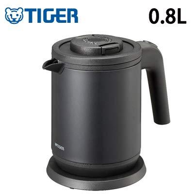 タイガー 電気ケトル 0.8l マットブラックTiger 蒸気レスわく子 Pck-a080km