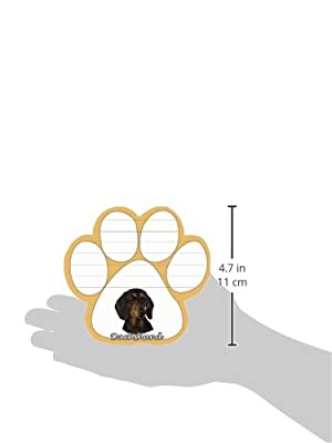 Dachshund, Black Notepad With Unique Die Cut Paw Shaped Sticky Notes 50 Sheets Measuring 5 by 4.7 Inches Convenient Functional Everyday Item Great Gift For Dachshund, Black Lovers and Owners
