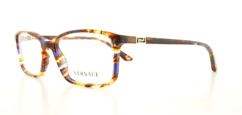 b75a7bf01561 Versace VE3163 Eyeglasses 992 Striped Brown Honey Blue 52mm ...