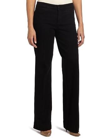 NYDJ Women's Greta Trouser Jean, Black, 0