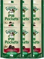 Greenies Canine Pill Pockets Hickory Smoke Tablet 30/pk - 6 Pack