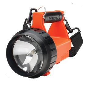 The Rugged and Dependable Streamlight Fire Vulcan Rechargeable lantern in orange