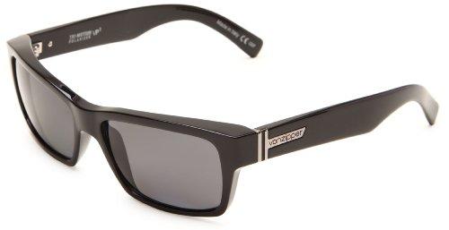 VonZipper Fulton Polarized Square Sunglasses,Black Gloss,One Size