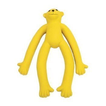 Coastal Pet Products DCP83257 Latex Rascals Long Legged Monkey Dog Toy, 11-Inch, Yellow