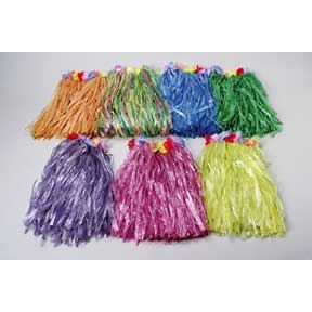 Natural Kid Plastic Flower Hula Skirt (1 per package) - 1