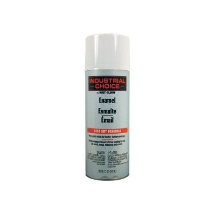 Industrial Choice Spray Paint, Gloss White, 12 Oz. (White Paint Outdoor Wood compare prices)