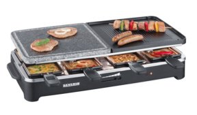 Severin KG2341 Raclette Party Grill With Natural Grill Stone