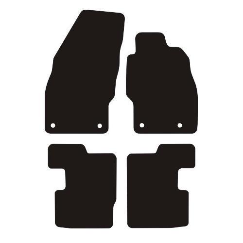 VAUXHALL CORSA D RUBBER CAR MATS 2006- (4 ROUND CLIPS)