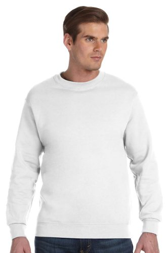 Gildan DryBlend 9.3 oz., 50/50 Fleece Crew, 2XL, WHITE