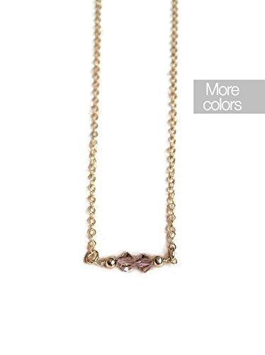 collar-chapado-en-oro-con-swarosvki-rosa-y-bolitas-oro-minimal-rose