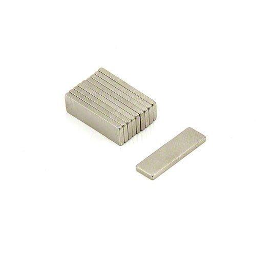 Magnet Expert Ltd 2- Confezione da 10 magneti al neodimio, 20 x 6 x 1,5 mm, fino a 1,6 kg