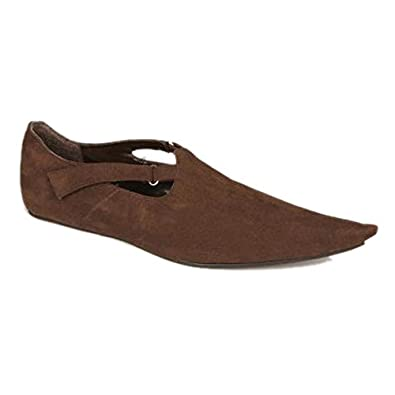 Adult Men's Renaissance Brown Costume Shoes (Size XL 14)