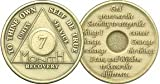 7 Month Bronze AA (Alcoholics Anonymous) - Sober / Sobriety / Birthday / Anniversary / Recovery / Medallion / Coin / Chip
