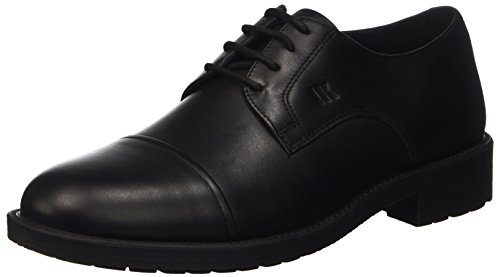 Lumberjack Cambridge, Scarpe Oxford Stringate Uomo, Nero (Cb001 Black), 40 EU