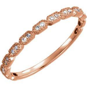 14kt Rose .08 CTW Diamond Ring Size 7