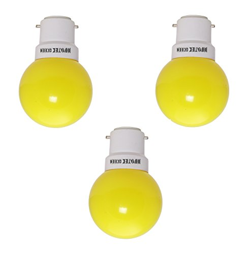 NOVATEK-GREEN-0.5W-LED-Bulbs-(Yellow,-Pack-of-3)